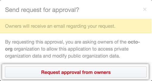 Request approval button